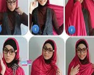 cara memakai jilbab segitiga untuk sekolah