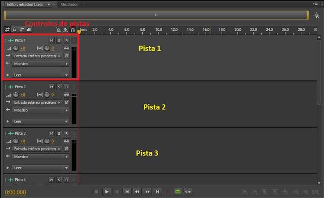 pantalla editor multipista