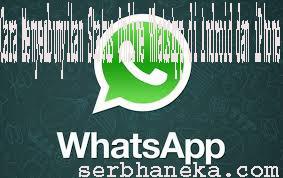 Cara Menyembunyikan Status Online WhatsApp di Android dan iPhone 1