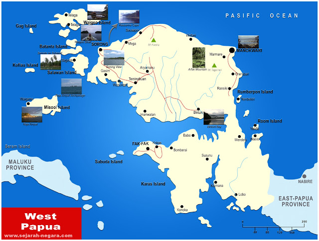 image: West Papua Map High Resolution