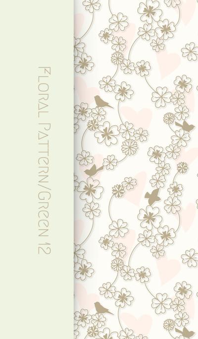 Floral Pattern[Clover]/Green 12