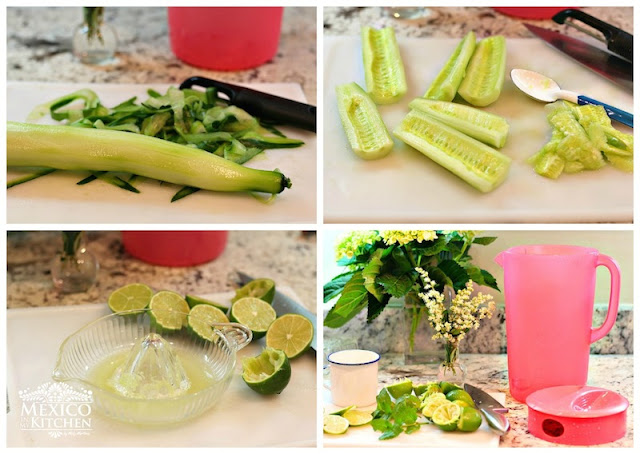 Peel the cucumbersand remove the seeds using a spoon. Chop cucumbers ...