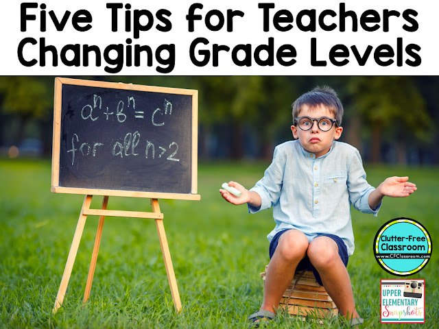 Are you changing grade levels? Do you need ideas for classroom decor or setting up your classroom? This blog post has 5 Tips for Teachers Changing Grade Levels and 3 FREE resources for all teachers!