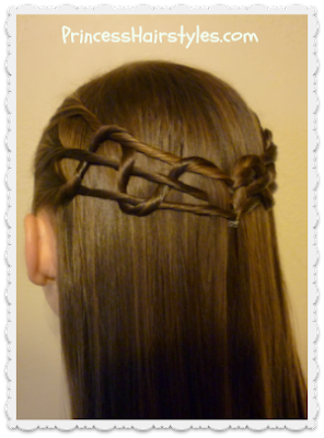Quick and easy snake weave tie back hairstyle, video tutorial