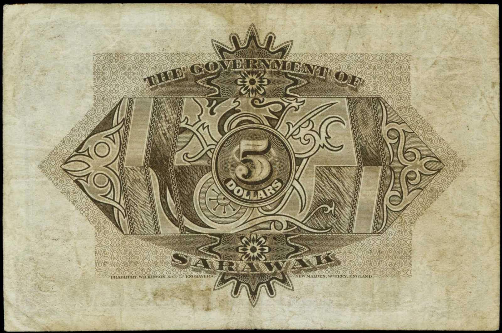 Sarawak 5 Dollars