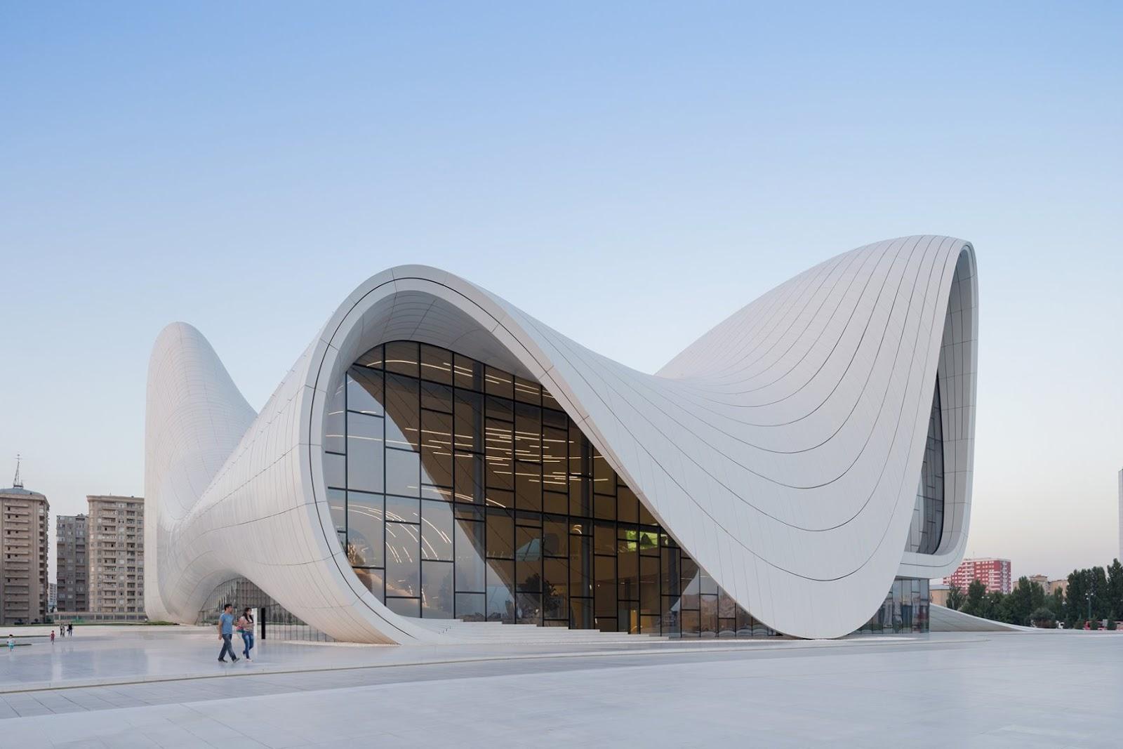Neo futurist architecture : The Heydar Aliyev Cultural Centre ...