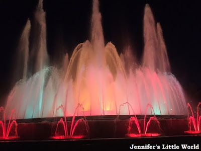 Barcelona Magic Fountain at night