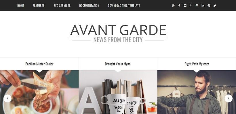 Avant Garde Free Blogger Template