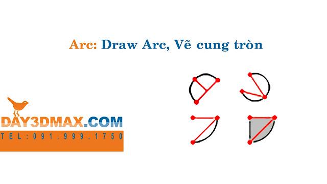 Dạy học 3d sketchup 10 Hướng dẫn  lệnh vẽ cung tròn  arc learning sketchup study 3d how to use arc tool