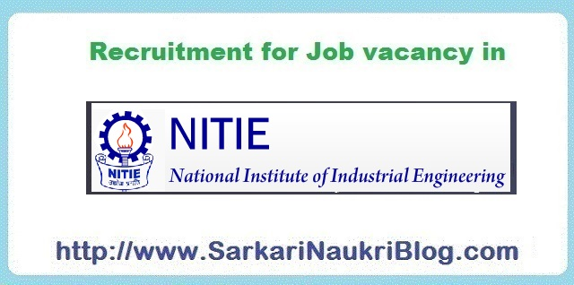 Naukri Vacancy Recruitment NITIE