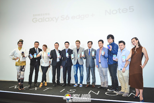 Group photo of 6 Key opinion leaders (KOLs) for Samsung GALAXY Note 5 in Malaysia