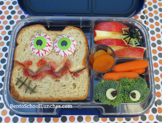 Monster Halloween bento lunch