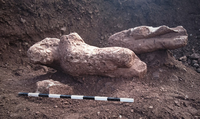 Ancient statues, graves unearthed in Greek field
