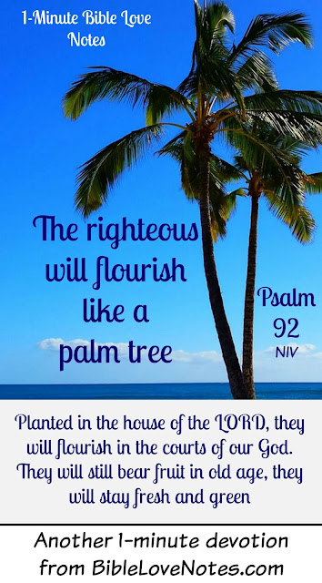 Psalm 92, God makes us fruitful like Palm Trees