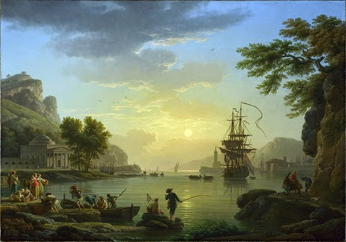A Landscape at Sunset by Claude-Joseph Vernet, 1773