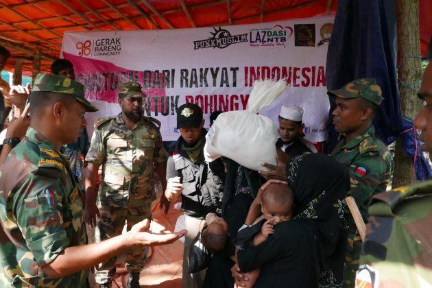 Peduli Rohingya, GBC Distribusikan Ratusan Paket Bahan Makanan