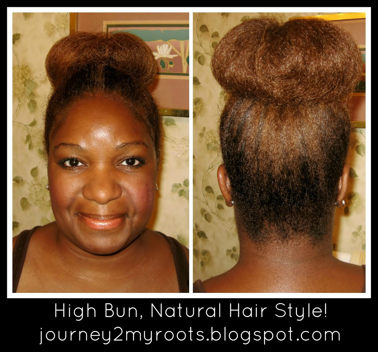 Journey To My Roots A High Bun Natural Hair Style