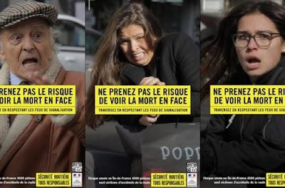Campanha de trânsito na França dá susto real em pedestres imprudentes