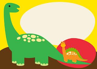 Para hacer invitaciones, tarjetas, marcos de fotos o etiquetas, para imprimir gratis de  Dinosaurios Bebés.
