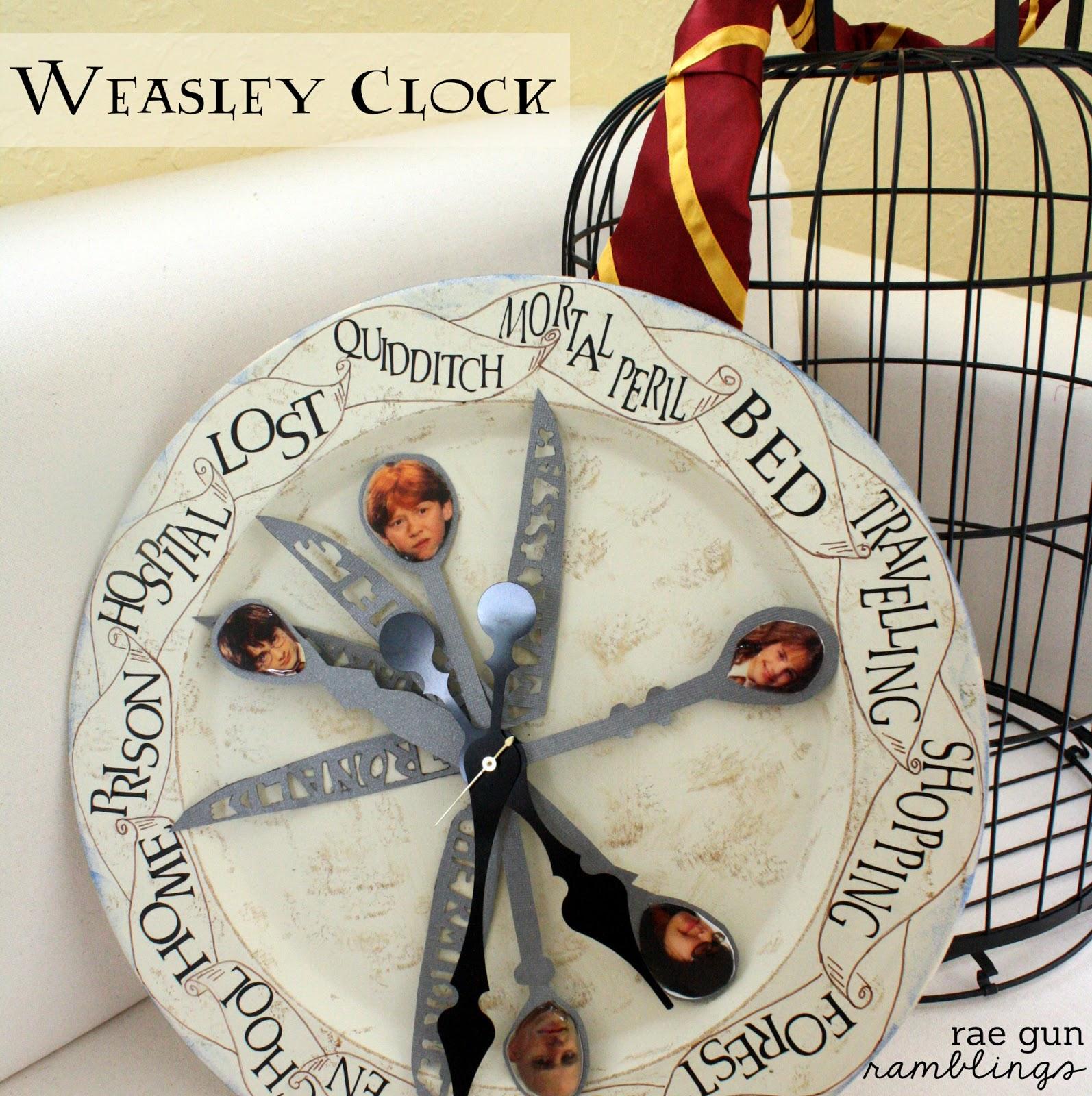 Weasley Family Clock Tutorial - Rae Gun Ramblings