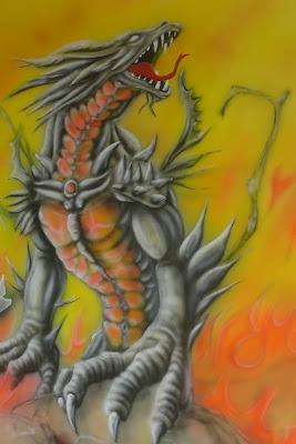 Malowanie obrazu na ścianie farbami uv, obraz świecący w ciemności.