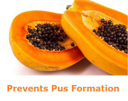 Health Benefits of Papaya - Paw paw Prevents Pus Formation