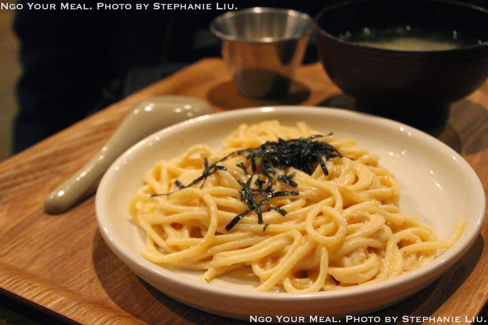 Mentai Spaghetti with Cod Roe and Mayo at Izakaya Mew.