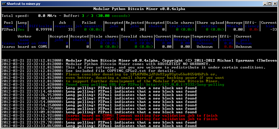 icarus bitcoin miner)