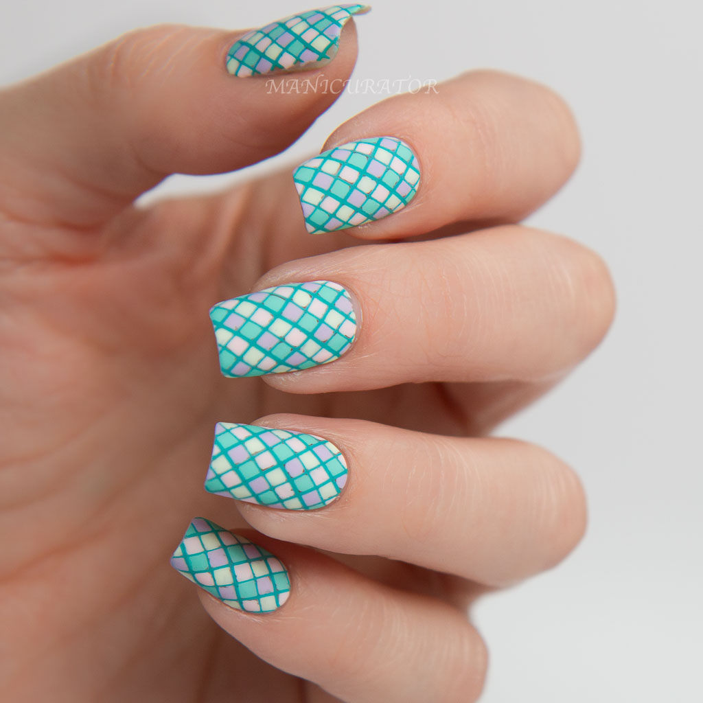 Paint all the nails presents pastel geometric nail art with floss paint all the nails presents pastel geometric nail art with floss gloss prinsesfo Gallery