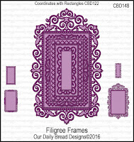 Our Daily Bread designs Custom Filigree Frames Dies