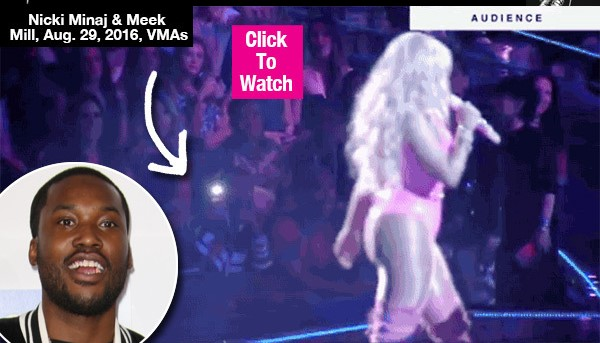 Meek Mill Proudly Records Nicki Minaj's Performance At The VMAs