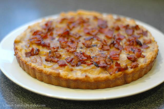 i heart baking!: french onion and bacon tart