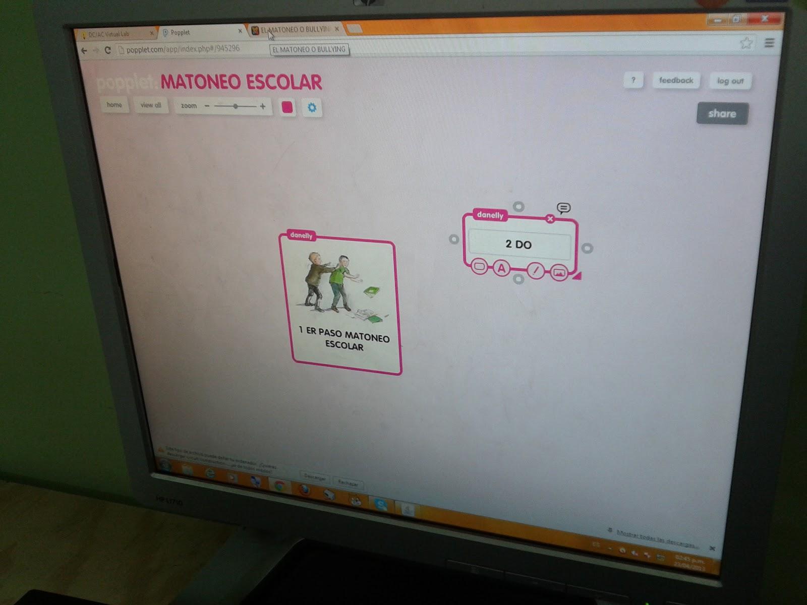 Desarrollo de un proyecto escolar en contra del matoneo escolar usando la herramienta popplet