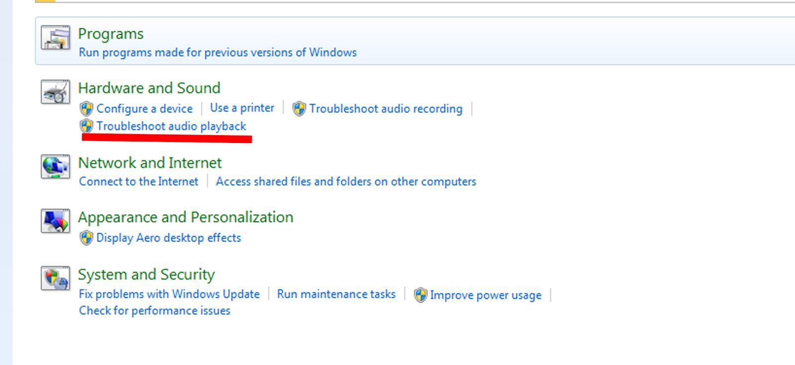 how to fix no sound on windows 7