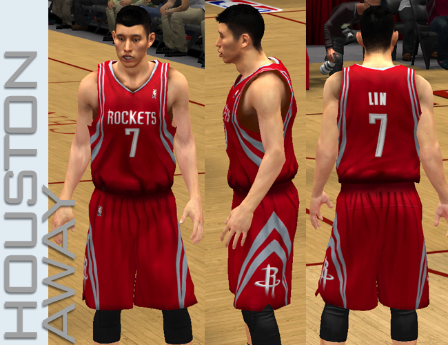 dd69f5714cc NBA 2K13 Houston Rockets Home Jersey NBA 2K13 Houston Rockets Away Jersey