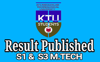 Ktu s3 Result b.tech mtech Results