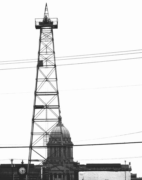 Oklahoma Capitol Building OKC Oil Rig