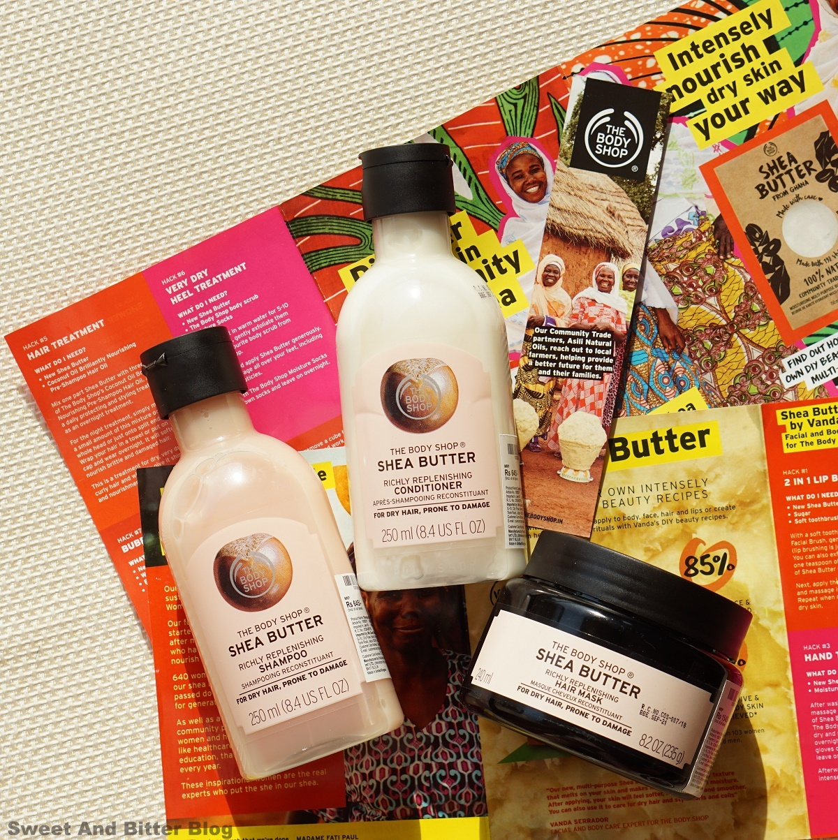 The Body Shop Shea Moisture Shampoo Condtioner Hair Mask Review India