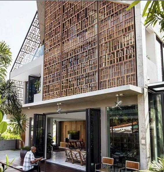 rumah minimalis mozaik kayu