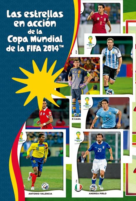 2014 mg Brazuka Fútbol Copa Viza álbum Pegatinas Pick World de la lista de 1-150