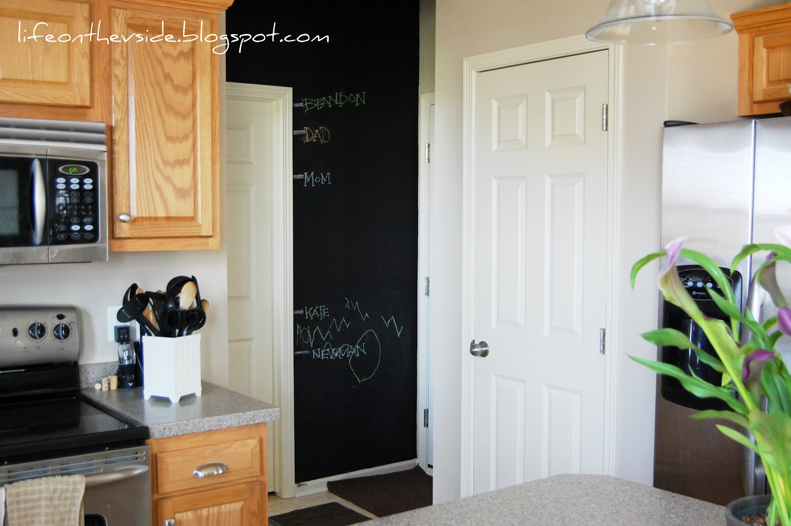 chalkboard in kitchen island movable 21 photos and inspiration chalk boards for kitchens