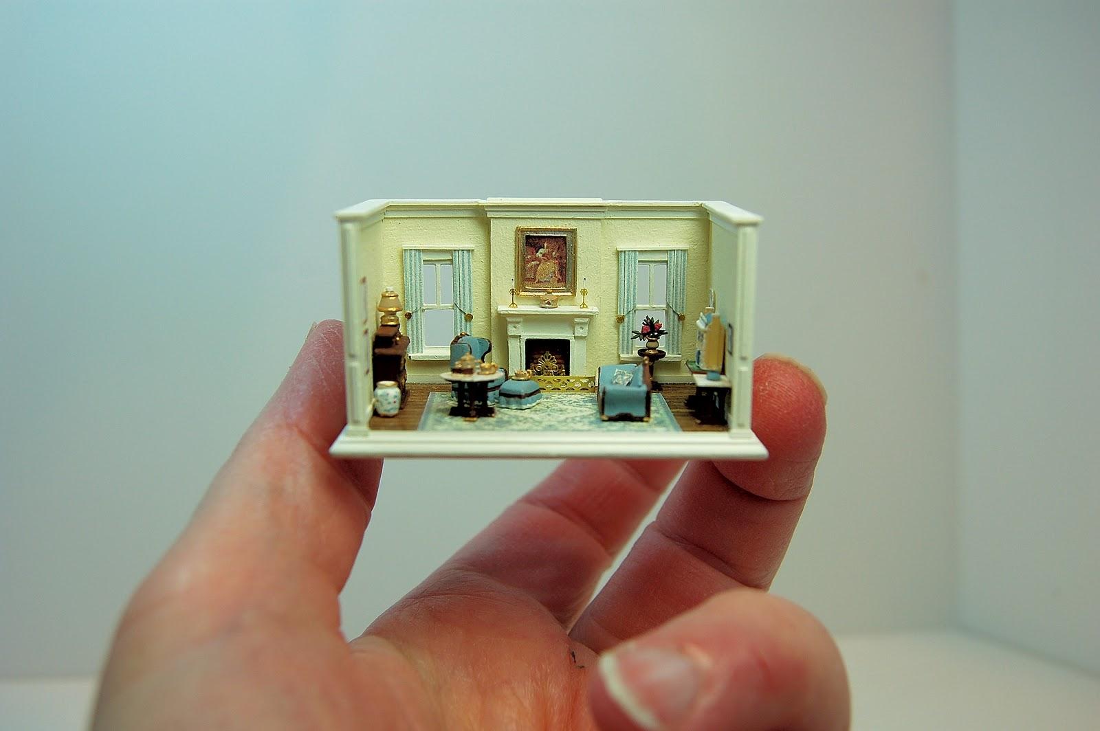 miniature miniatures nell corkin living room. Black Bedroom Furniture Sets. Home Design Ideas