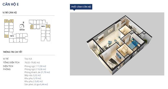 Thiết kế căn hộ hạng E Chung cư 69 Vũ Trọng Phụng