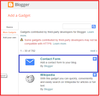 Blogger contacts forms