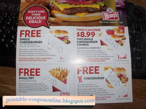 Wendy's printable coupons november 2018