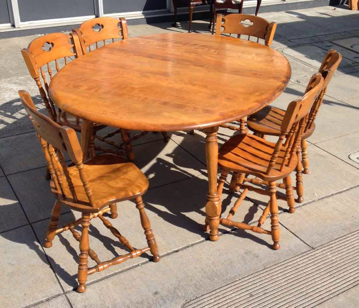 Maple Dining Room Set: UHURU FURNITURE & COLLECTIBLES: SOLD Maple Colonial Dining