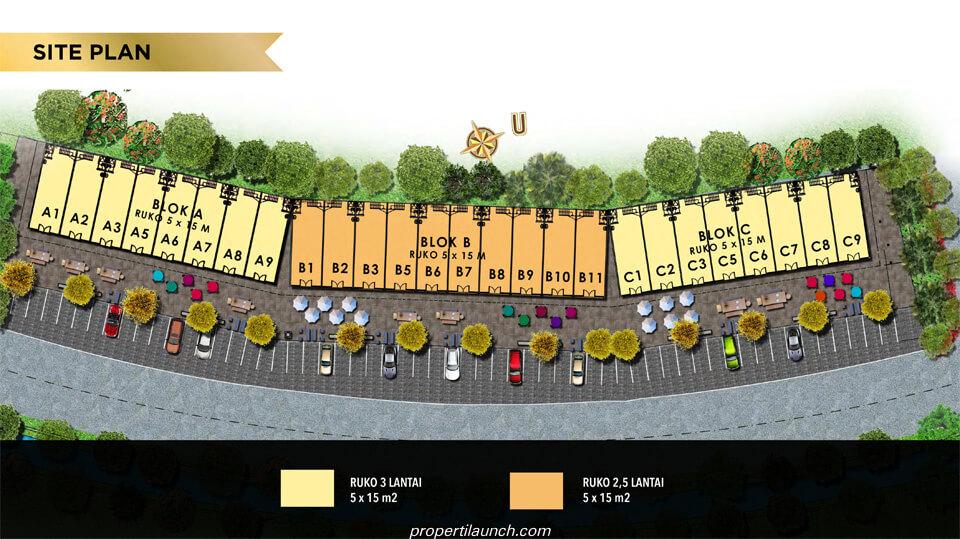 Site Plan Ruko Melbourne Street