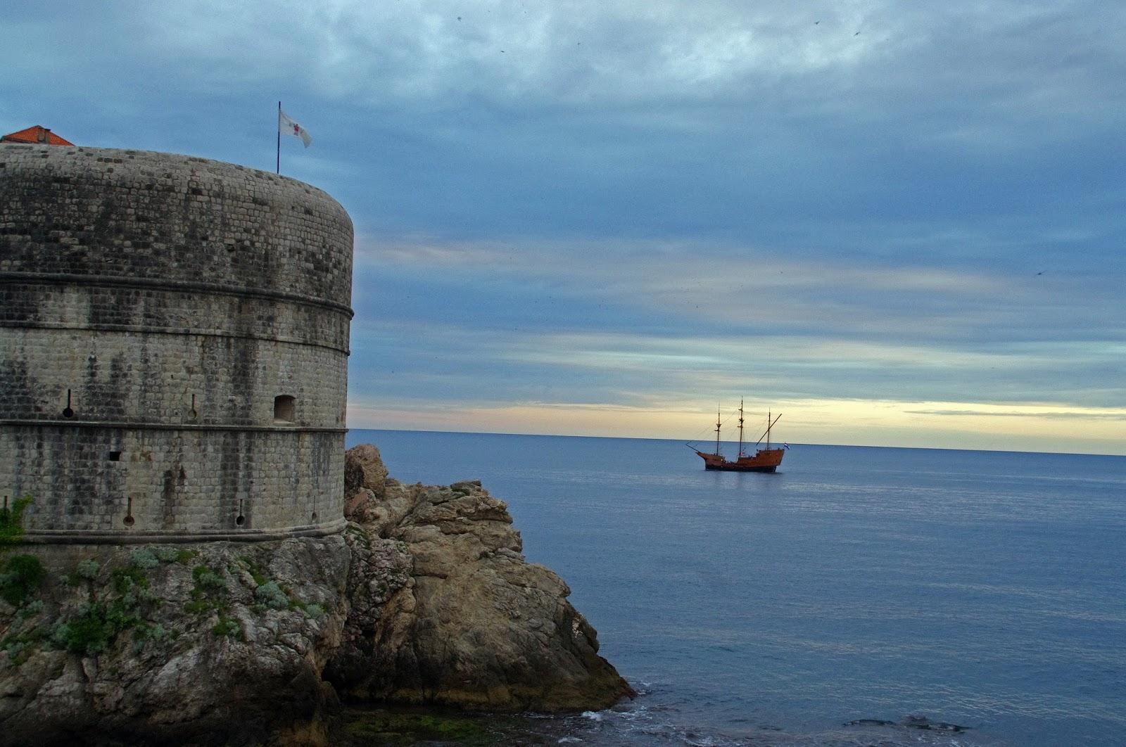 Pirate ship at Nautika Restaurant Dubrovnik