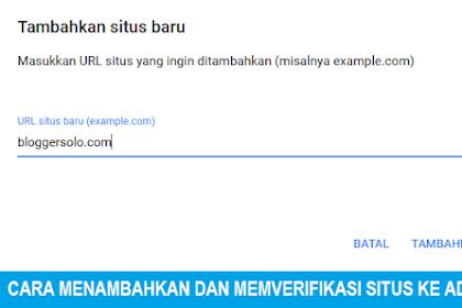Cara Menambahkan dan Memverifikasi Situs Website ke Google Adsense