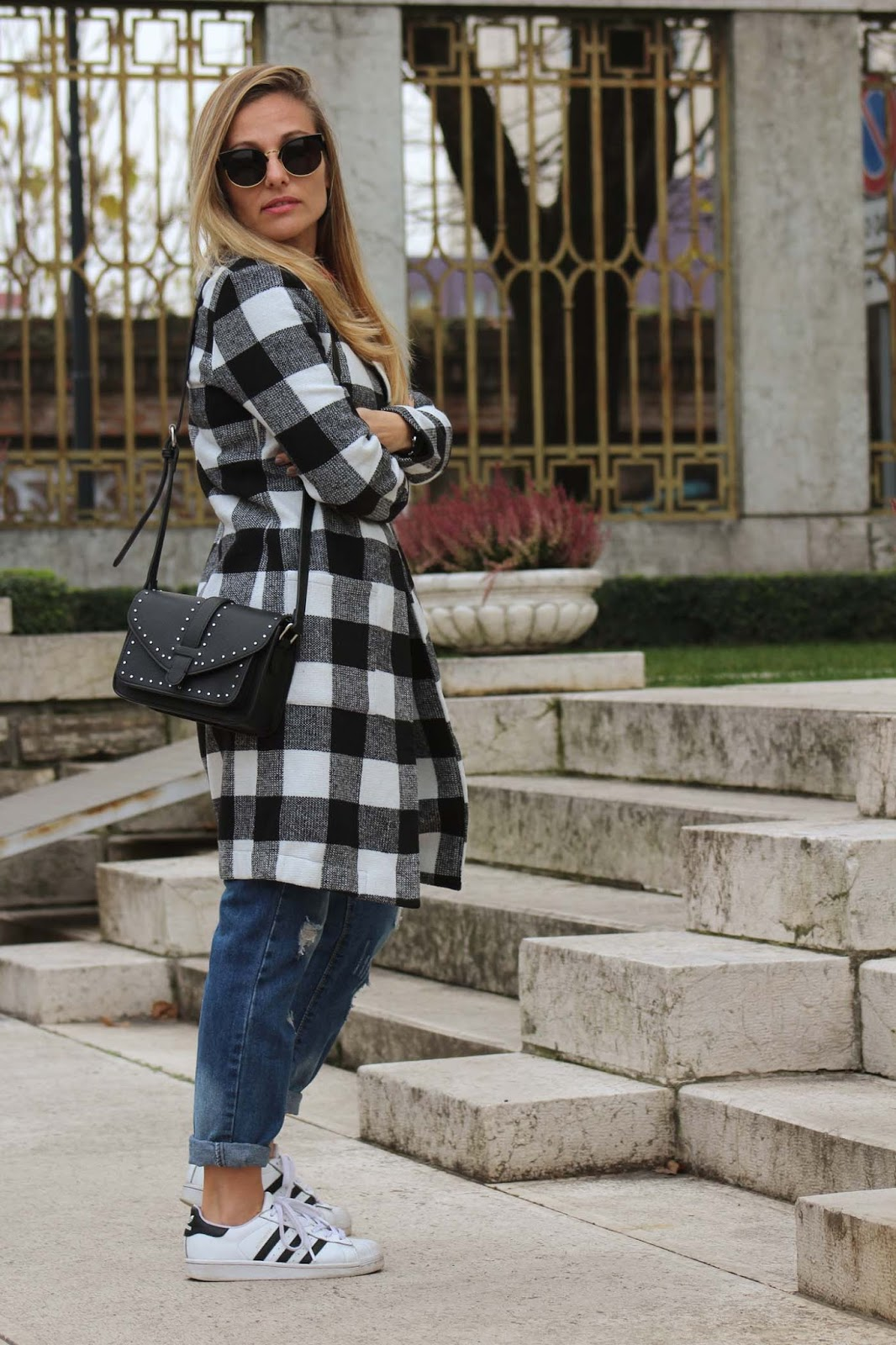 Eniwhere Fashion - Checked Coat Shein